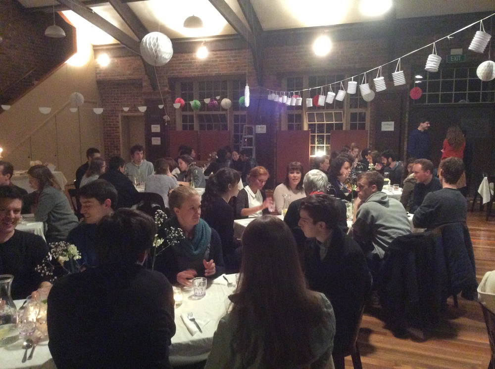 Attendees at the CMS Victoria Young Adults dinner.