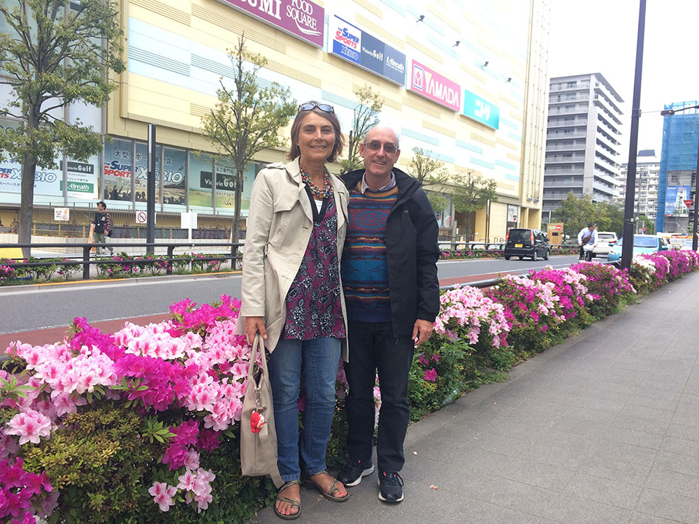 CMS Mission Personnel Secretary, Chris Mitchell, and his wife, Jeni, in Japan.