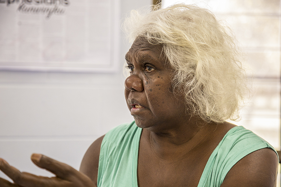 Lois, a local Indigenous leader in NT.