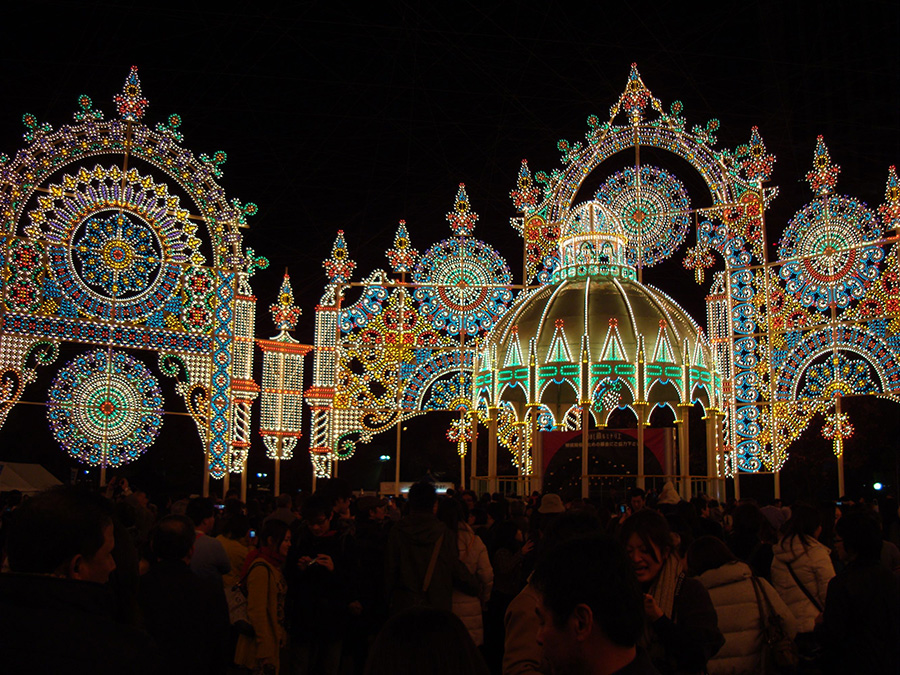 The Luminarie light festival in Kobe, Japan.