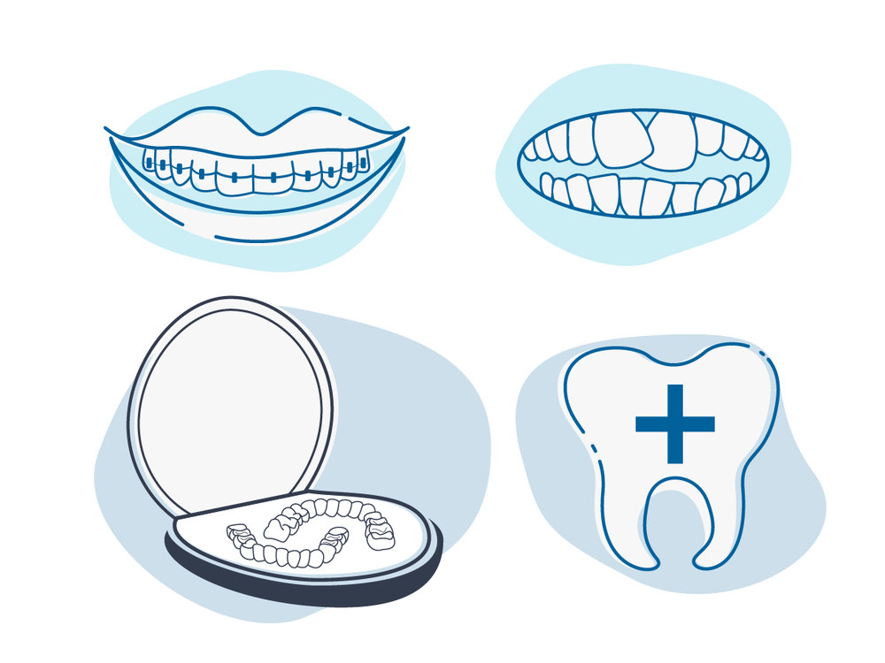 Erin DeMoss - Illustration - Icons - Dental Office