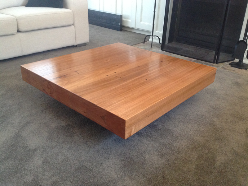 Floating Recycled Hardwood Coffee Table