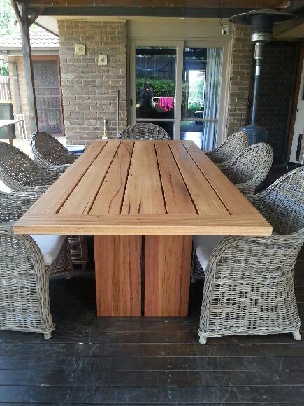 Recycled Hardwood Timber Outdoor Table Part 36