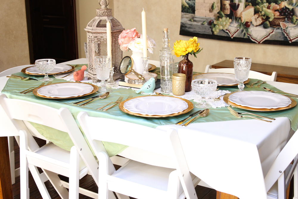 A perfect baby shower setup. A Vintage Bird Themed Baby Shower - Ready to Rent from @inJOYtheParty!