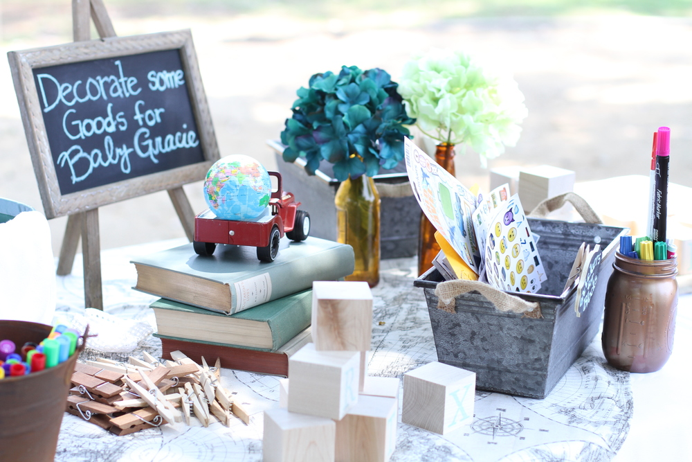 Around The World Baby Shower! - This impeccably prepackaged travel themed collection is ready to rent from @inJOYtheParty!