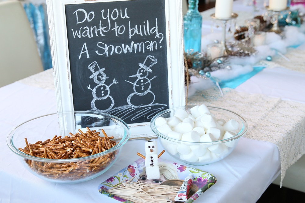 Do you want to build a snowman? FROZEN Party EVERYTHING! @inJOYtheParty