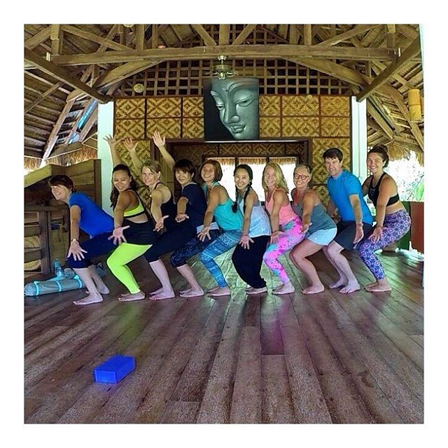 Here is the picture we took after yoga practice at the Yoga Barn Panglao Bohol Philippines. We welcome Kayt, our intern volunteer, as part of the Barn's team. We had great time! Thank you for your energy and contagious smile Kayt. We love your core and strength class 🔅 #funafteryogaclass #yoga #yogalove #yogapractice #yogastudio #yogabarnpanglao #yogateacher #yogaeverydamnday #yogaeveryday #iloveyoga #utkatasana #chairpose