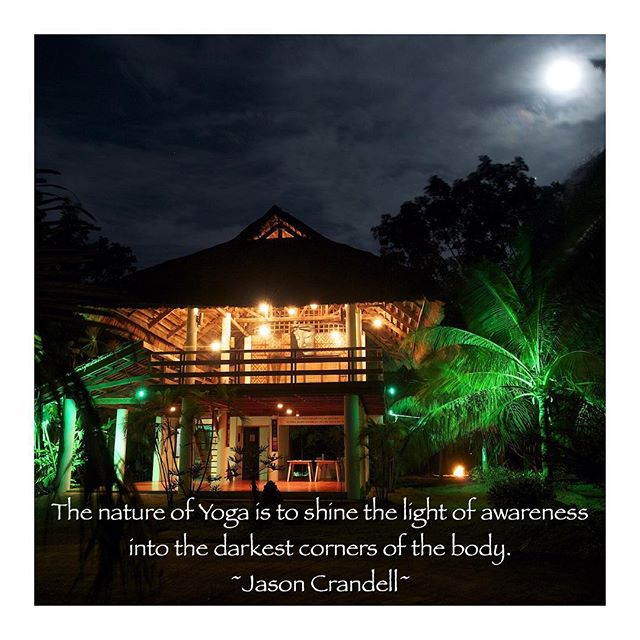 This picture was taken by our late friend Jason Jue during a stunning full moon. He truly captured the essence of the garden that comes alive at night. Magic, serene, quite, and a bit spooky because he made me into a ghost 👻! 😱Can you see where I am? 😆 #quote #yoga #yogaeverydamnday #yogastudio # yogabarnpanglao #lights #night  #nightlights #architecture #Asia #asianbuilding #building #moon #fullmoon #trees #palmtrees #tropics #garden #tropicallife #lovelife #yogalove #yogateacher #poetic #fun #spooky #magic #quite #serene #happiness #awareness #love