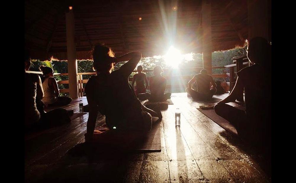 ~Your view at Sunset Class, Yoga Barn Panglao~Panglao Island, Bohol, Philippines.