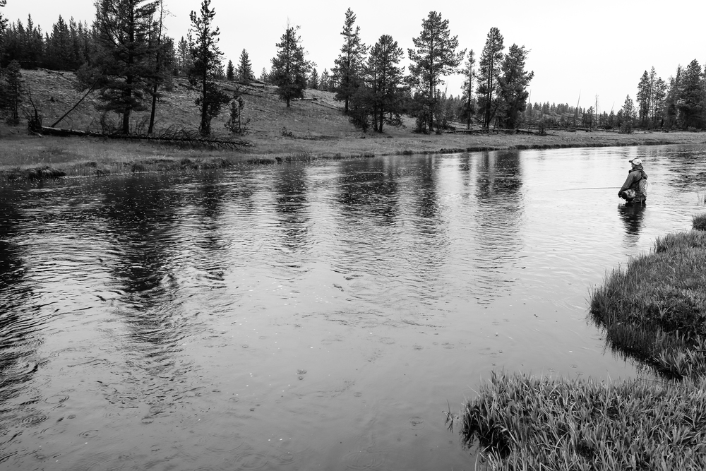 Fishing in Firehole River