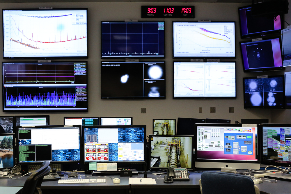 Control room at LIGO Livingston. Photo by Paige Jarreau.