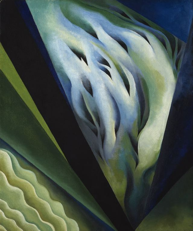 Blue and Green Music, Georgia O'Keeffe, 1921. Public Domain.