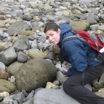 Sarah Zielinski, fossil hunting last year in England.
