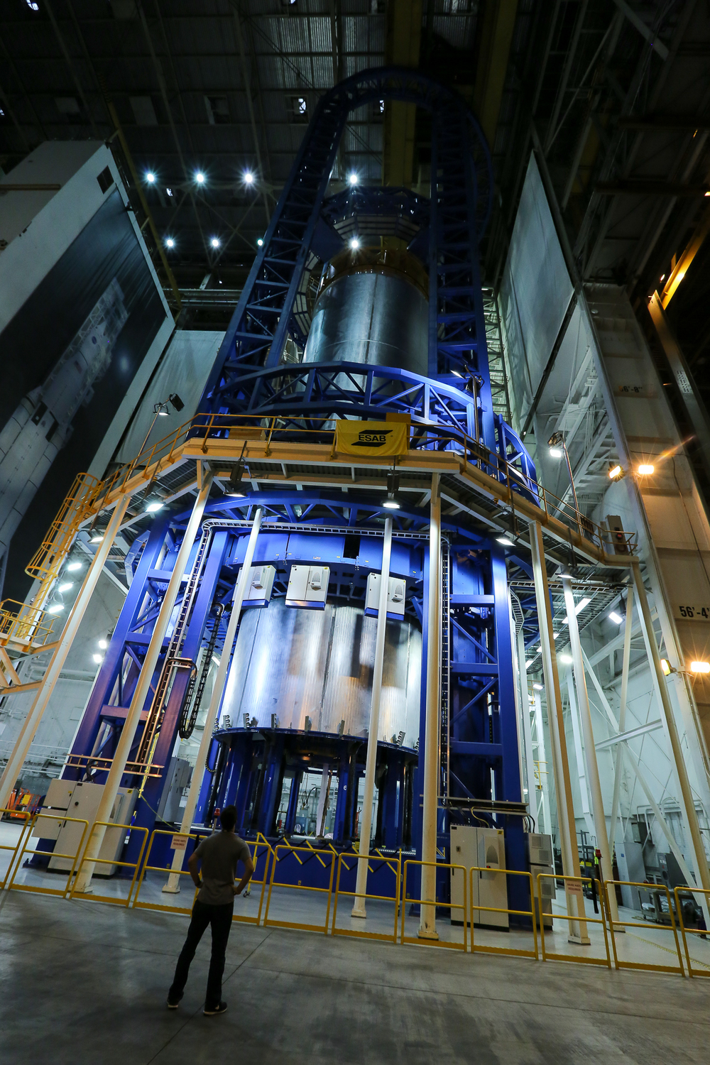 The vertical assembly center at NASA Michoud is being used to build the Space Launch System (SLS), our generation's version of the rocket system that launched Apollo 11 to the moon.