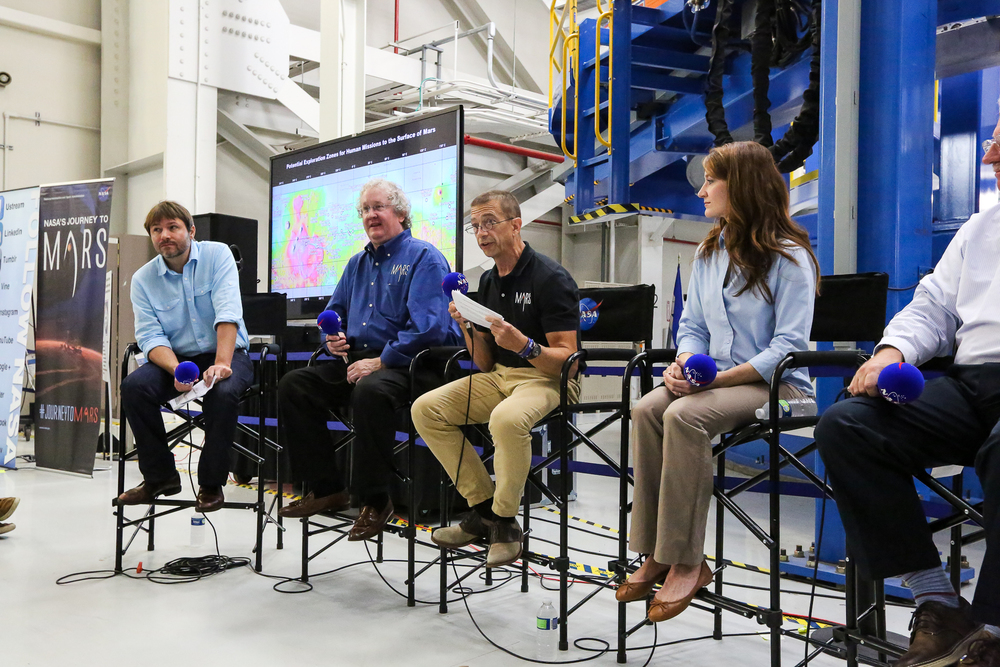 Rick Davis talks at NASA Mars Day