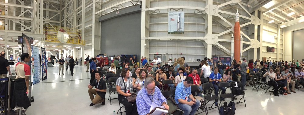 Inside NASA Michoud for NASA Mars Day.