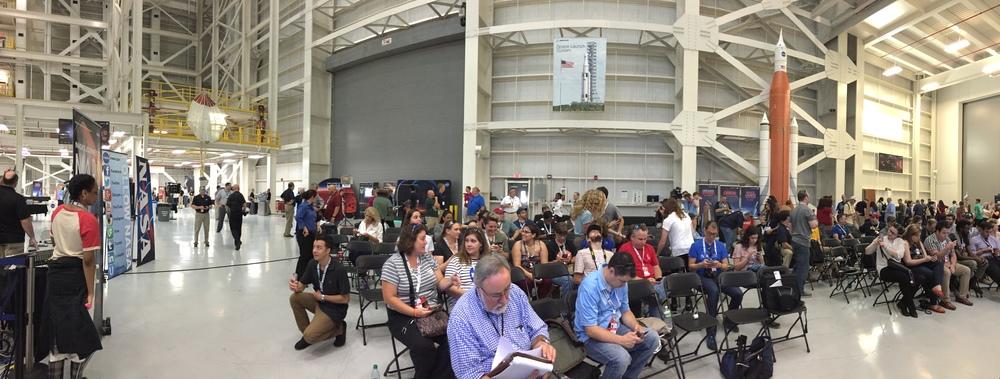 Inside NASA Michoud for NASA Mars Day.