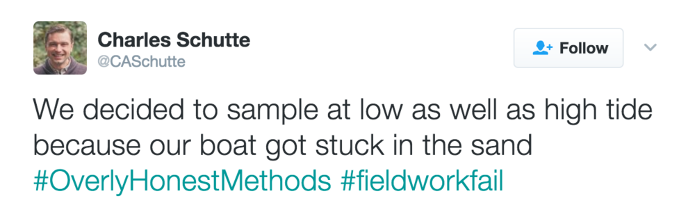 An example of an #overlyhonestmethods tweet.