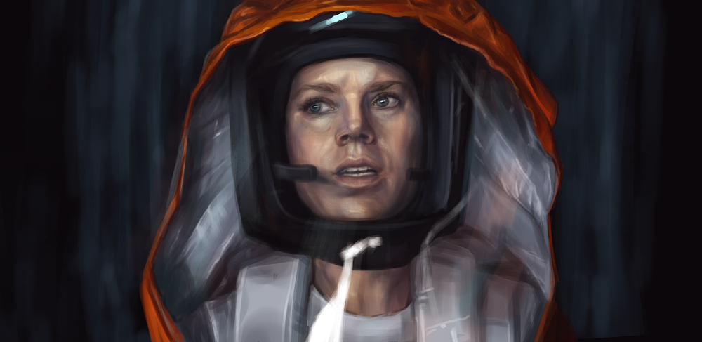 Arrival Fanart, by  Julie Silent/  Julia Molchanova  , via Behance .