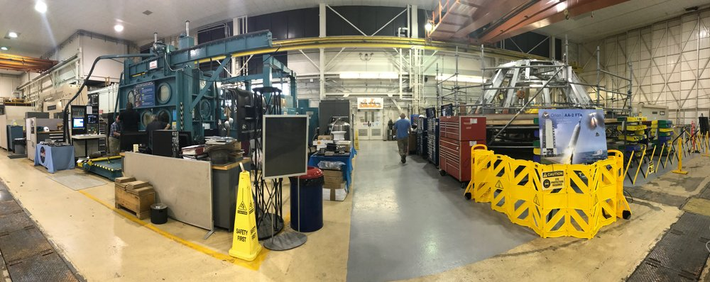 Panorama of the Advanced Manufacturing Research facility at NASA Langley. Credit: Paige Jarreau