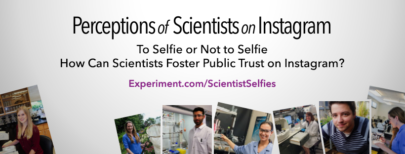 Perceptions of Scientists on Instagram, graphic created by Spacetime Labs.