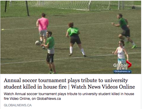 Global News - Brenna Innes Memorial Soccer Tournament, May 2017