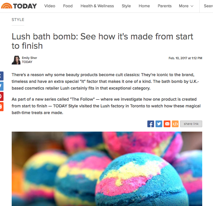 Lush bath bomb: See how it's made from start to finish. Todayshow.com, Feb 2017