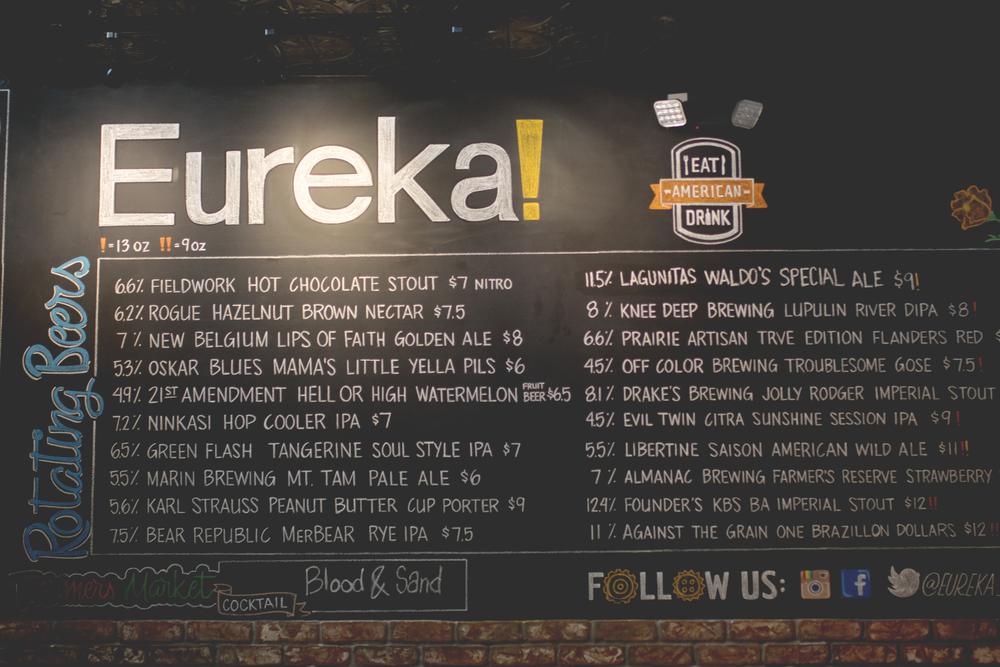 Eureka's craft beer line up