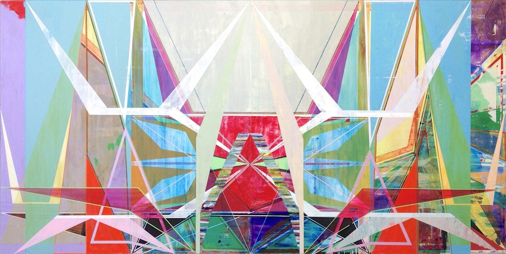 "BRACE, 60"" X 120"", ACRYLIC ON CANVAS, 2014"
