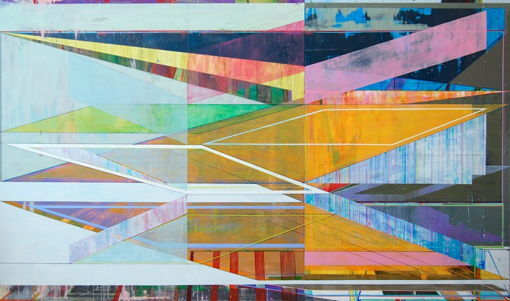 "INCLINE, 72"" X 120"", ACRYLIC ON CANVAS, 2014"