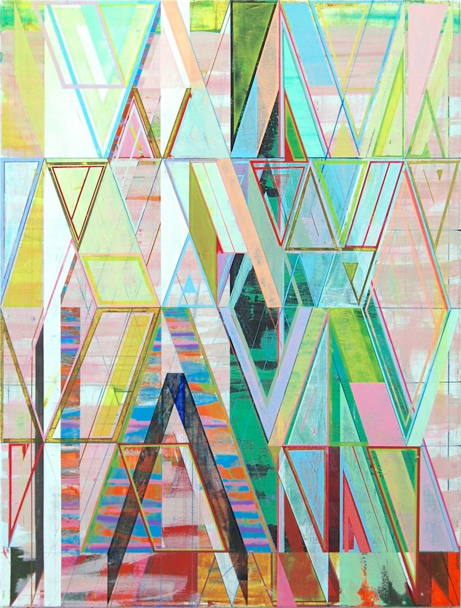 "LIGHT GREEN PATTERN, 50"" X 38"", ACRYLIC ON CANVAS 2014"