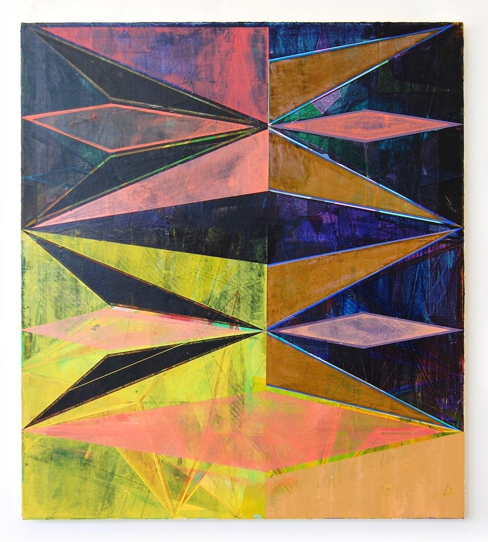 "DARK YELLOW PATTERN, 38"" X 34"", 2015"