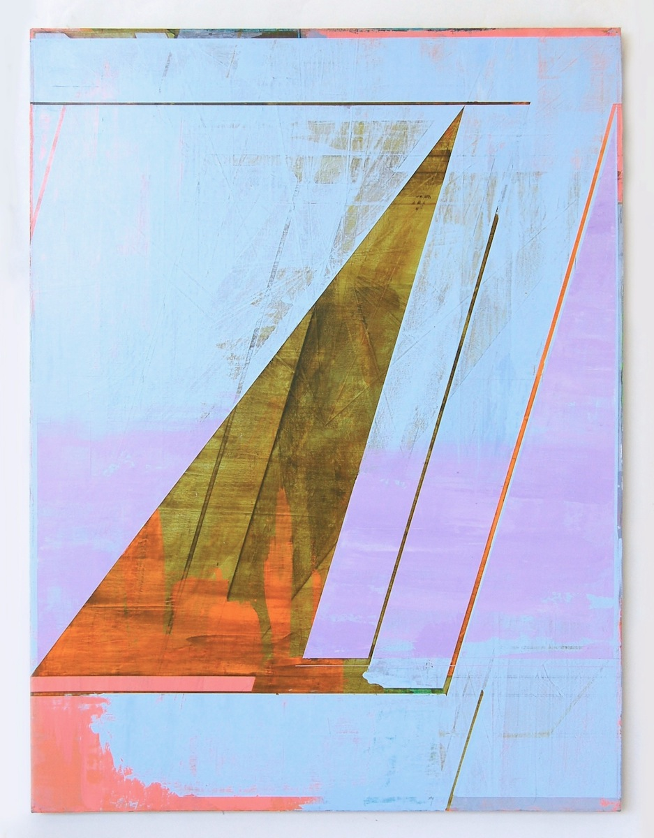 "ULTRAMARINE PATTERN, 50"" X 38"", 2015"
