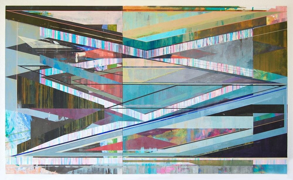 "SLANT, 56"" X 96"", ACRYLIC ON CANVAS, 2015"