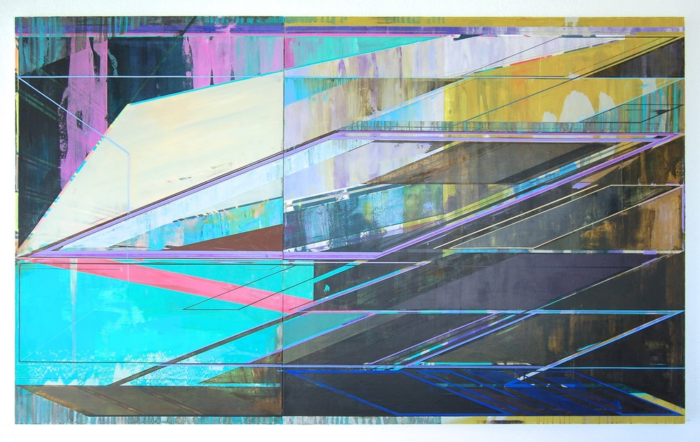 "INVERSE, 60"" X 100"", ACRYLIC ON CANVAS, 2015"