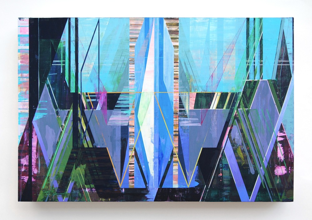 """WING, 42"""" X 63"""", ACRYLIC ON CANVAS, 2015"""