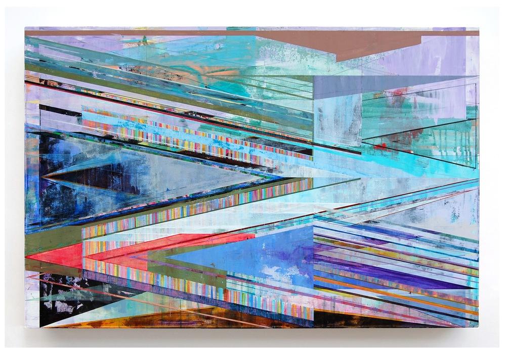 "OFFSET, 42"" X 64"", ACRYLIC ON CANVAS, 2015"