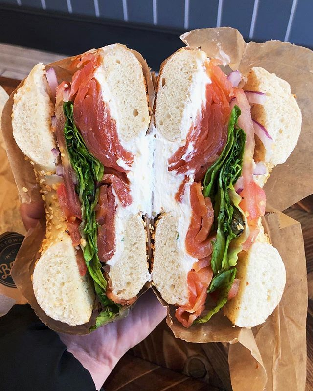 One good looking bagel 🥯 #nycfood