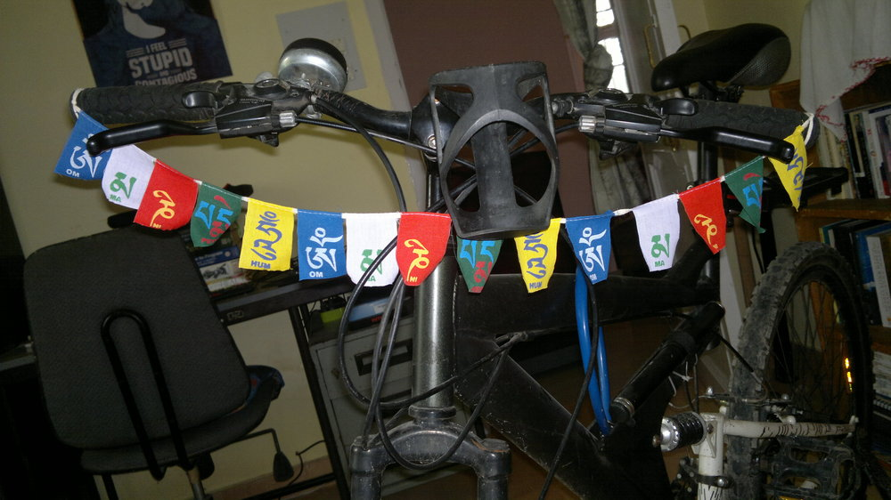 Tibetan prayer flags for my cycle.