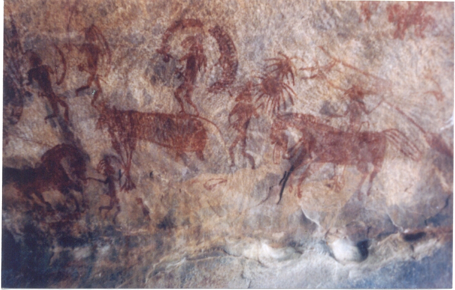 Bhimbetka Rock Paintings from India