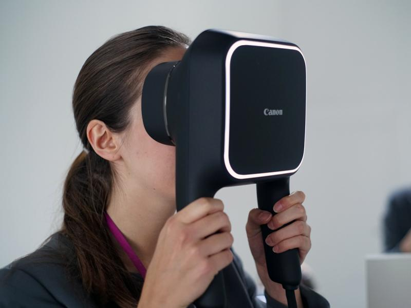 High resolution Canon Virtual Reality display is an excellent option for museum exhibition. This option doesn't require strapping a system to the viewers head.