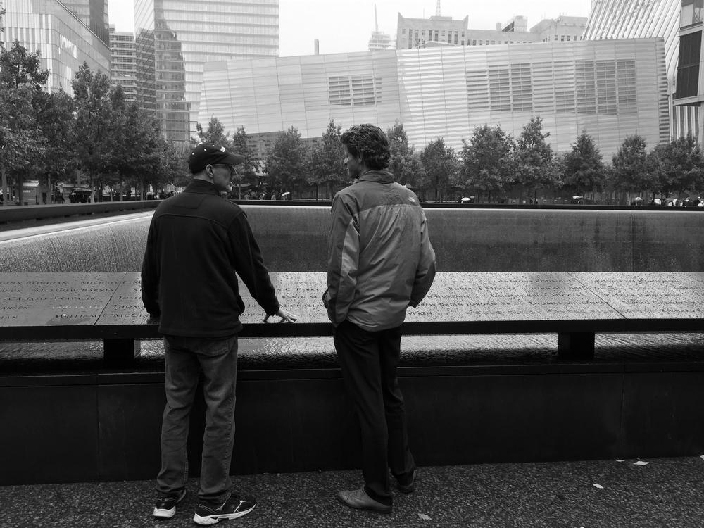(above) Remington Scott and John MacInnes at the 911 Memorial Museum, NYC. 2015
