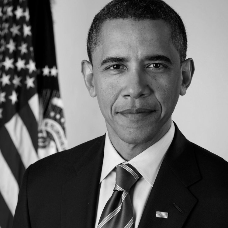 President Barack Obama, Commander In Chief who authorized Operation Neptune Spear. He watched the mission through a live drone feed in the White House with his National Security Team.