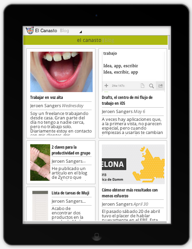 El Canasto en Google Currents