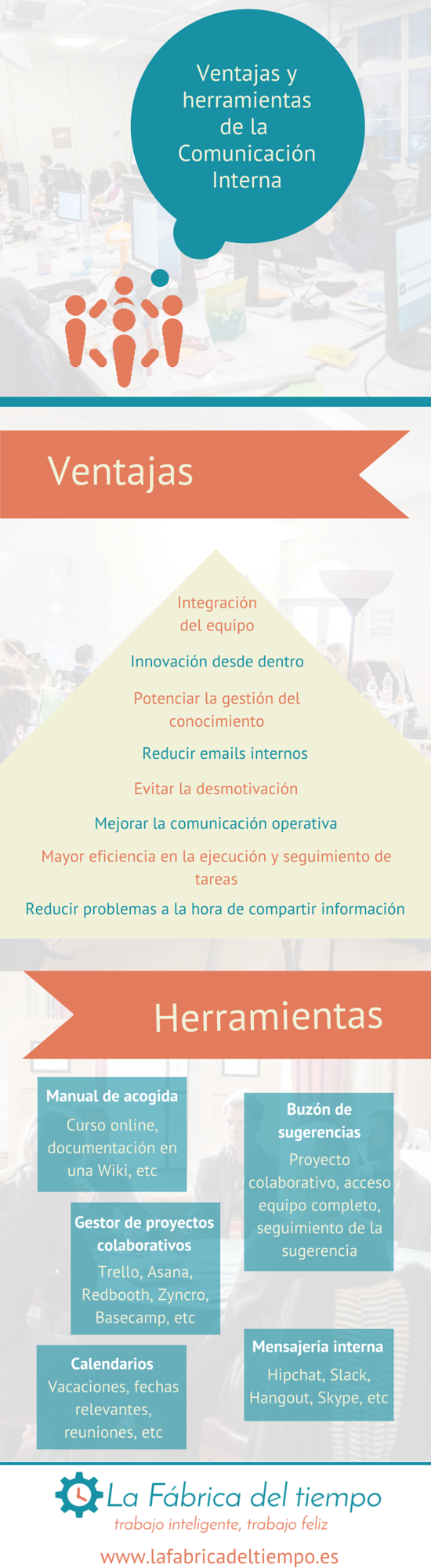 Ventajas y herramientas de la comunicación interna