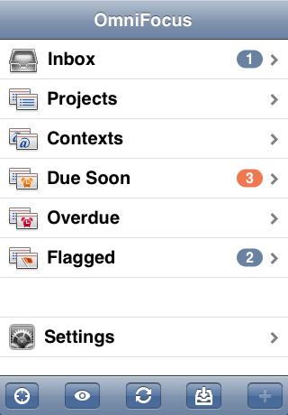 OmniFocus para iPhone