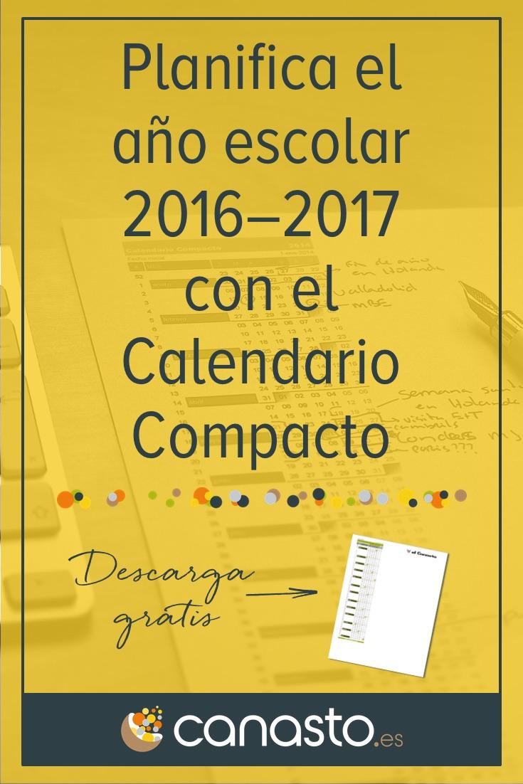 Planifica el año escolar 2016–2017 con el Calendario Compacto