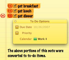 Nota con tareas