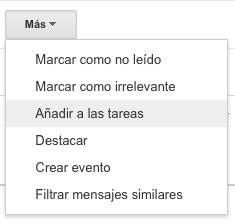 Añadir un email a las tareas en Gmail