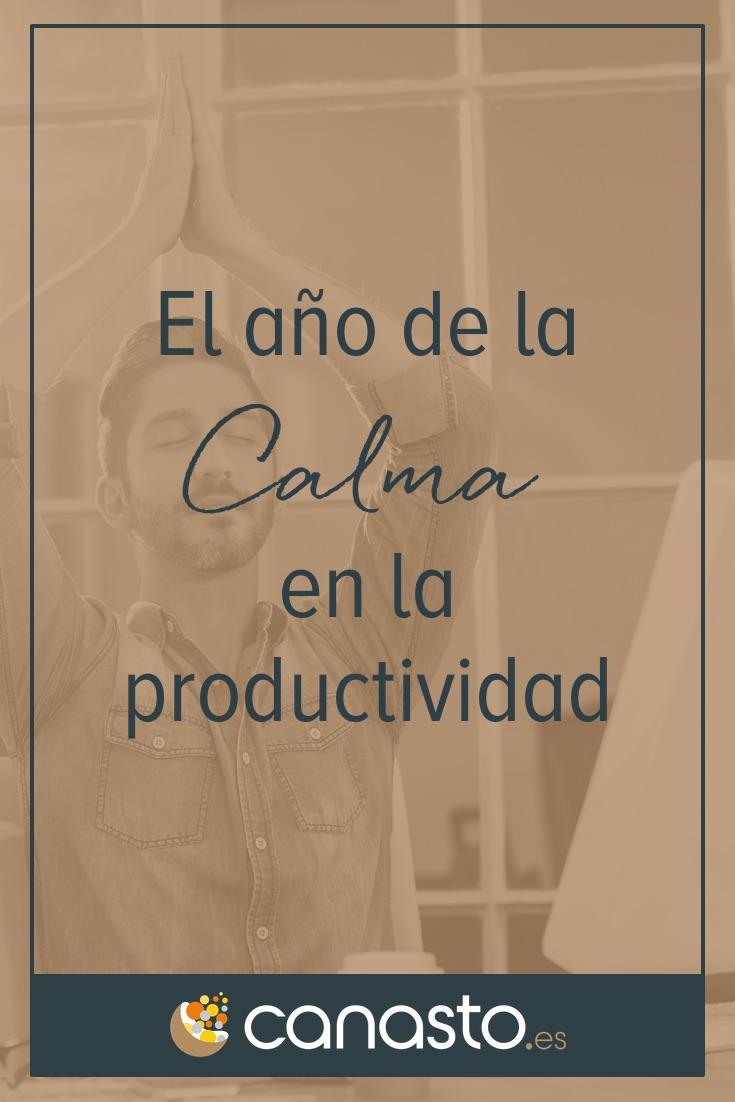 El año de la Calma en la productividad